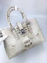 100% Real/Genuine Crocodile Skin Women Tote bag Crocodile Leather Tote Top-handle  Handbag, Crocoidle skin Lady business bag