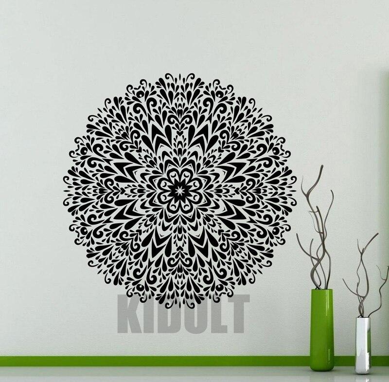 Creative Wall Sticker Mandala Indian Yoga Lotus Folded Wall Stickers Vinyl Stickers Bedroom font b Home