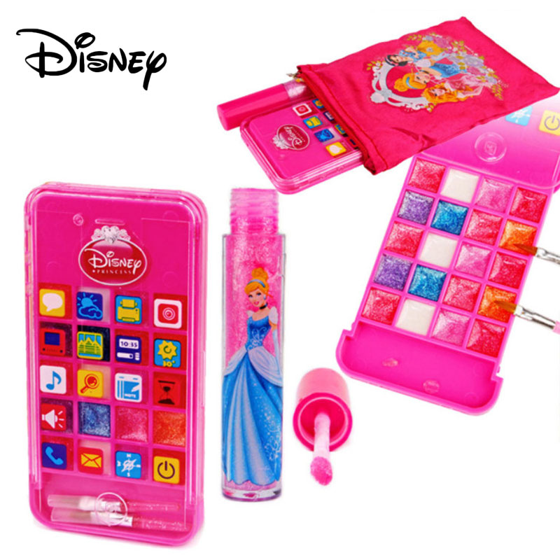 Disney Princess Girl's Lip Gloss 20 Stylish Kids Makeup Pretend Beauty Toys 2019 New Non-toxic Lipstick Cosmetics Make Up Gifts