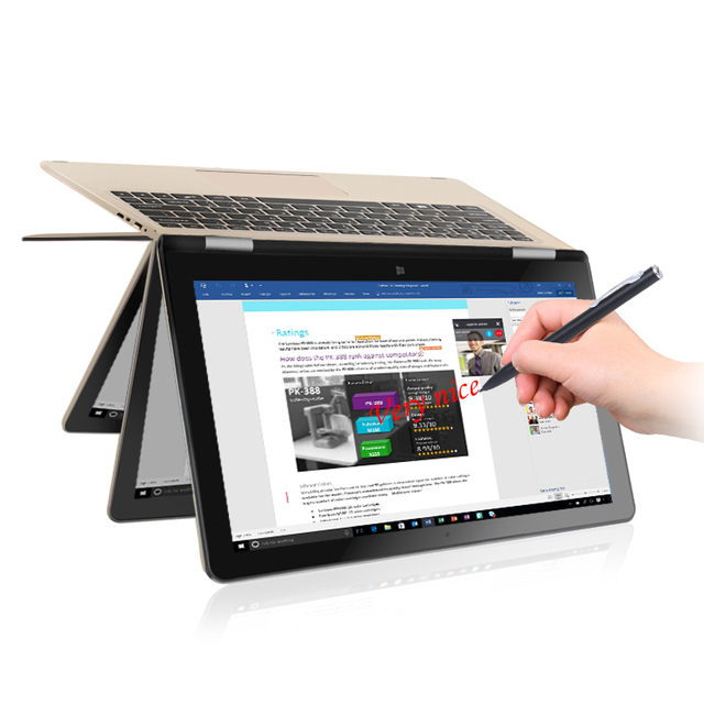 "VOYO А1 Vbook CeleronN3450 Quad Core 1.1-2.2 ГГц Win10 11.6 ""IPS планшетный пк Экран С 4 ГБ DDR3L 32 Г + 120 ГБ SSD YOGA Pad"