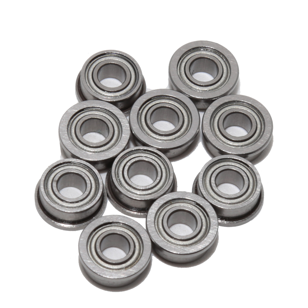 F684ZZ 4x9x4 mm Ball Bearing Bearings 4*9*4 Flanged Metal Shielded 50 PCS