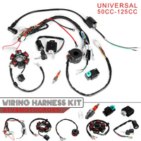 New For 50cc 70cc 90cc 110cc 125cc Mini ATV Complete Wiring Harness CDI STATOR 6 Coil Ignition System