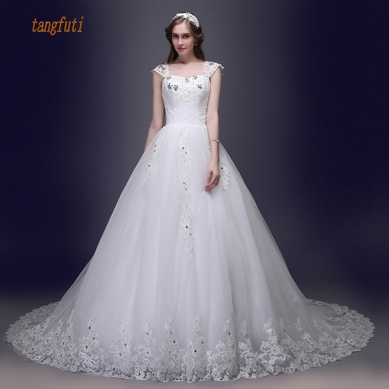 New Vintage Princess Ball Gown Wedding Dresses Beaded: Vintage Lace Wedding Dresses Ball Gown Long Crystals