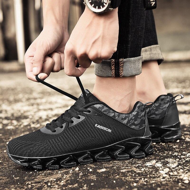 Chaussures de course pour hommes Flyknit classique noir rouge ado marque de sport d'été baskets chaussette marche athlétisme course lumières lame Jogging