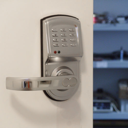 LHX Digital Electronic Code Keyless Keypad Security Entry Gate Door Lock For Office,House a