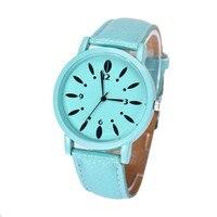 Hot Sale New Arrival Fashion Relogio Masculino Women Faux Leather Analog Quartz Wrist Watch Ladies Gift Free Shipping