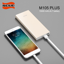SCUD Power Bank 15000mah External Battery Portable Mobile Fast Charger Dual USB Powerbank for Android and IOS Mobile Phones