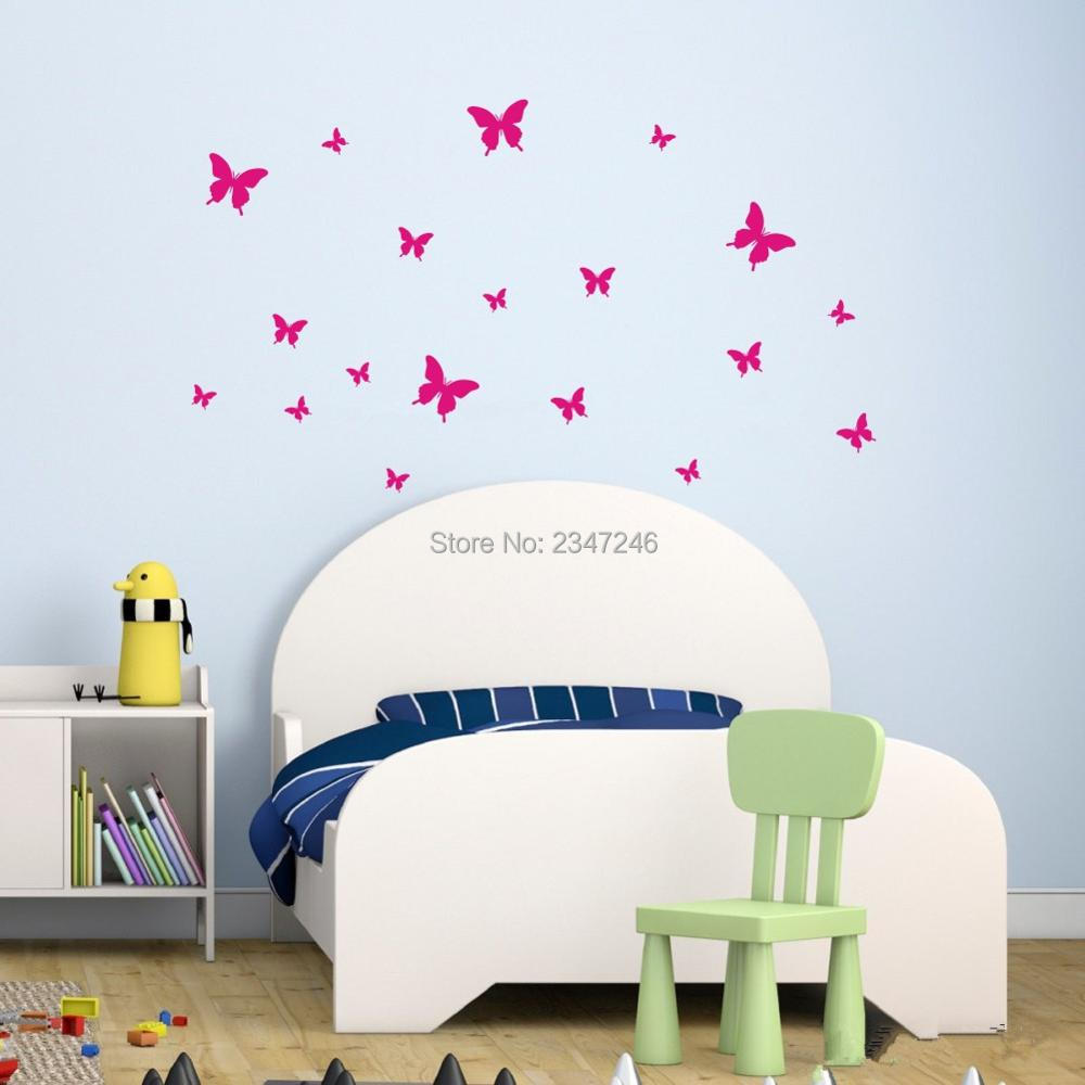 Butterfly Wall Stickers Diy Wall Backdrop Vinyl Poster Wall Decoration For Bedroom Living Room