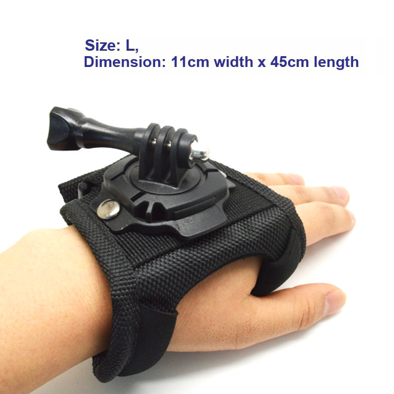 Free Shipping Size L Glove style Mount 360 degree Rotation with Waterproof Shell for Gopro SJ4000