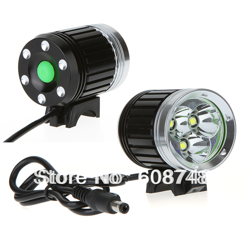 3800 Lumens 3x XM-L T6 LED Bike Bicycle Head Light Headlamp With 4x18650 Battery And Charger Free Shipping