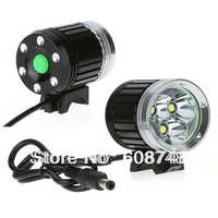 5000 lumens 3x XM-L T6 LED Bike Bicycle Head Light Headlamp with 4x18650 battery and Charger Free shipping