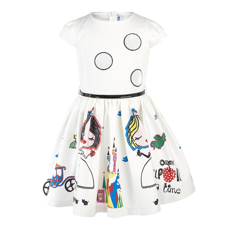 ac8df8e0b Lollas Dress Girl 2018 Floral Print Toddler Girl Dresses Kids Clothes