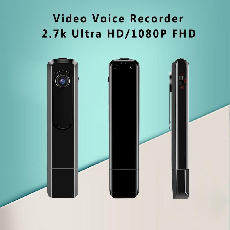 Wearable Mini Camera 2.7K 30fps Mini DV 1080P Full HD 60fps Pen Camera Voice Recorder Pen Micro Body Camara DVR Video Camera