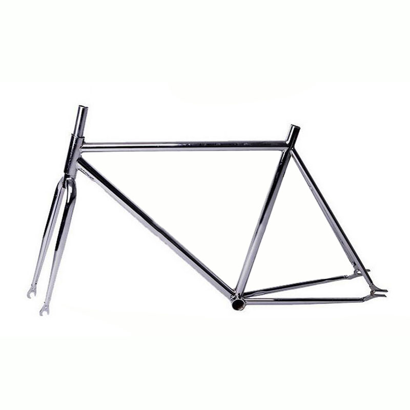 Retro Gold plating bicycle frame Fixed Gear Bike overgild steel frame fork 700c 48cm 52cm bicycle frame multicolour 53cm 55cm 58cm fixed gear bike frame matte black bike frame fixie bicycle frame aluminum alloy frame with carbon fork