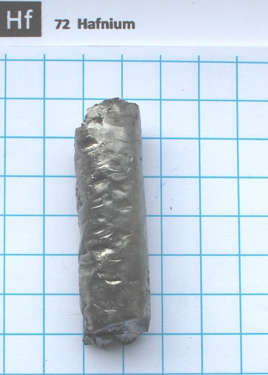 Hafnium metal Crystal Bar Transition metal-100 gram 99.99% Pure Element 72 sample цена