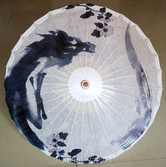 Free shipping Dia 84cm chinese religious totem ink painting dragon handmade waterproof parasol decoritive oiled paper umbrella dia 84cm chinese handmade red plum blossom oil paper umbrella ancient waterproof sunshade parasol decoration gift dance umbrella