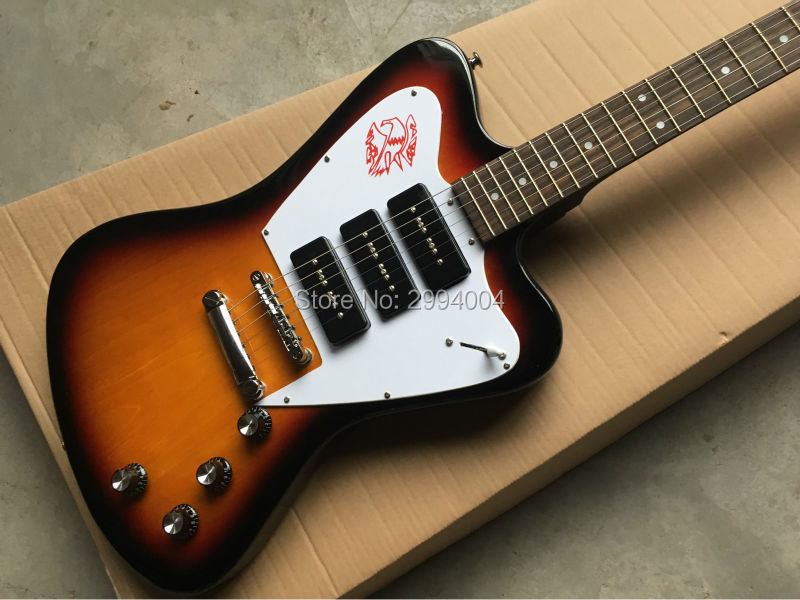 New products, special-shaped firebird electric guitar, fade, provide the EMS delivery, factory wholesale from the factory wholesale special electric guitar case shaped like a guitar the color can be changed on request