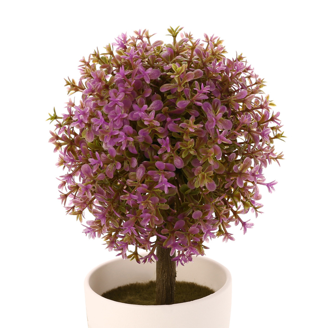 New Arrival Artificial Topiary Tree Ball Plants In Pot Colorful Fake Plant Ball Pot For Garden Home Office Decors