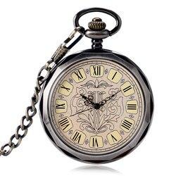 Механические часы Relojes de Bollo, изысканные часы в стиле стимпанк с открытым лицом и цепочкой, модные часы с ручным заводом