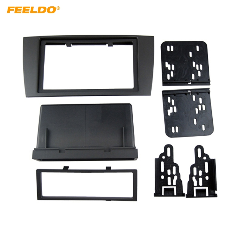 FEELDO Car 2DIN Refitting CD DVD Radio Fascia Frame for JAGUAR S&X 2003-2008 Stereo Dash Face Plate Frame Panel Mount Kit #5225