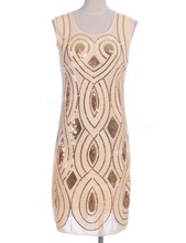 Prettyguide Women Vintage 1920s Heart and Wrap Flapper Sequin Deco Gatsby Charleston Dress  Flapper Costumes Party Dress