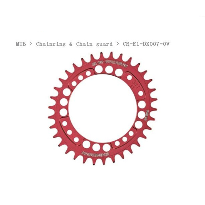 FOURIERS MTB Chainring Chain guard 104BCD A7075 Alloy Bike Bicycle oval Narrow Wide Chainwheel Cycle Crankset 34-48T