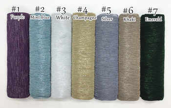20pcs packing fashion shimmer pleated hijab scarf metallic plain shawl soft muslim wrinkle hijabs women scarves islamic scarfs