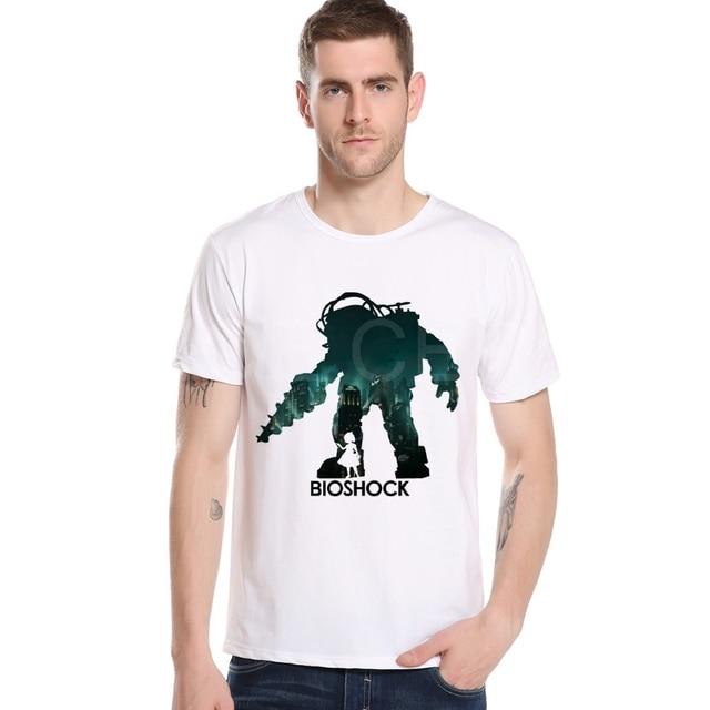 e3fc51ef5de1 New Game Casual T Shirt Bioshock Infinite Vigor Hombre Crew Neck Short  Sleeved T-Shirts Customized Mens Make Robot Tshirt M20-7#