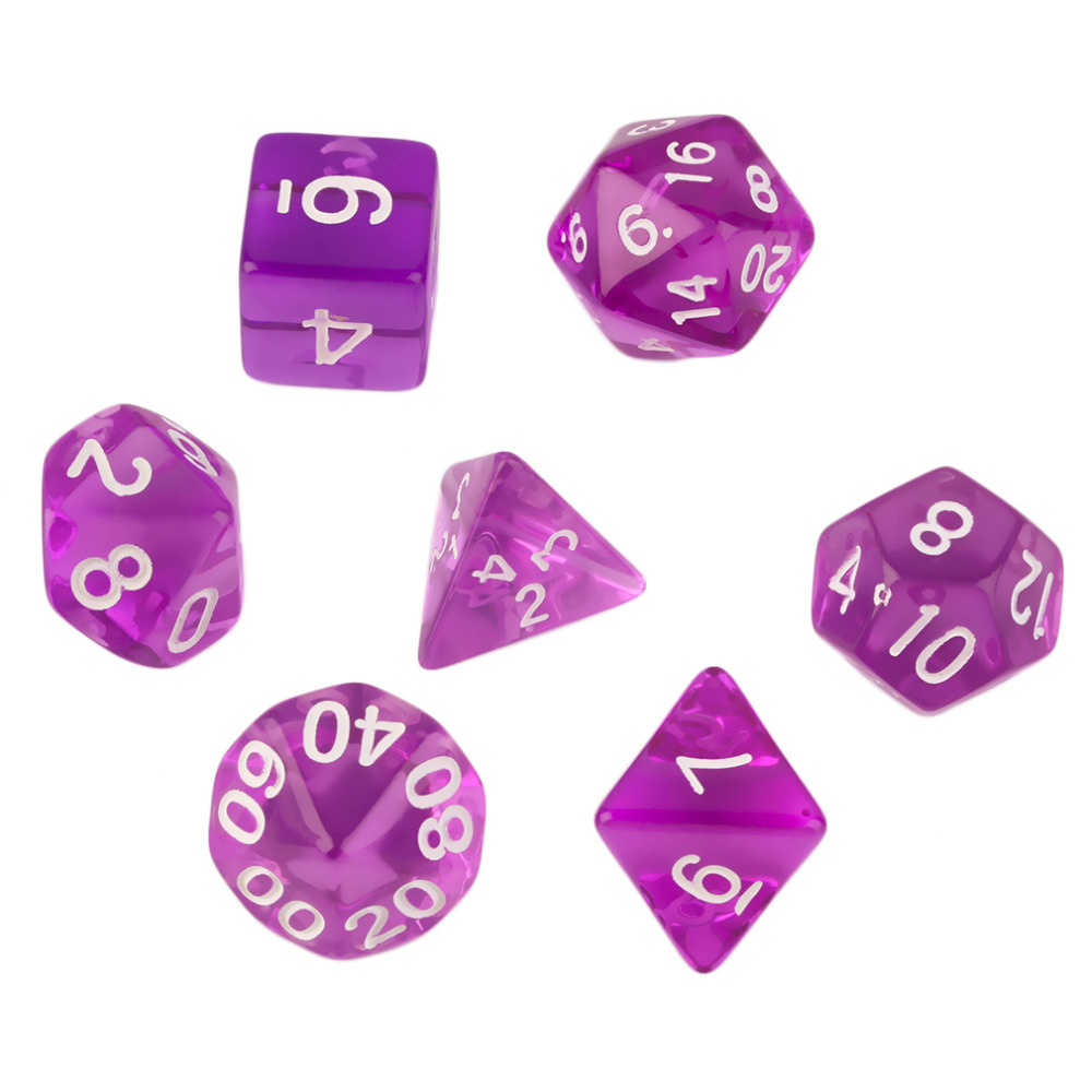 7pcs/Set Games Multi Sides Dice D4 D6 D8 D10 D12 D20 Gaming Dices Hot Sale