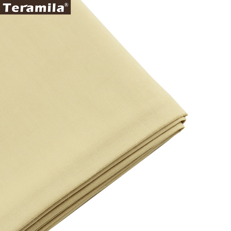 50cmx160cm/piece Light Khaki cotton Fabric for Tilda Doll Twill Cloth Patchwork Quilting bedding home textile Reactive Dyeing