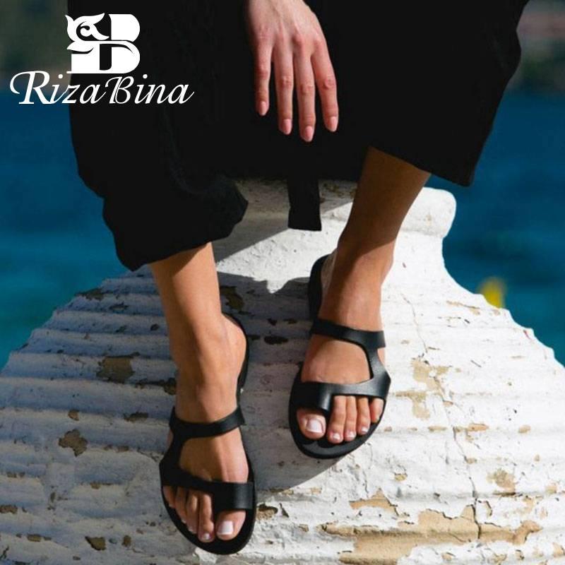 Sandalias Playa Zapatos 2019 Nuevas Rizabina Zapatillas Mujer Planas Verano Fiesta Para De La bgI7yvm6Yf