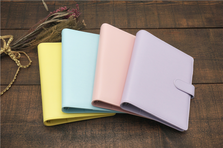 40197aa25f9f48 Notebook filofax PU leather spiral loose leaf refillable travel journal  planner agenda notepad binder A5 A6 student lovely gift