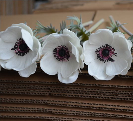 12 real natural touch artificial pure white anemones flowers 12 real natural touch artificial pure white anemones flowers single stems free mightylinksfo