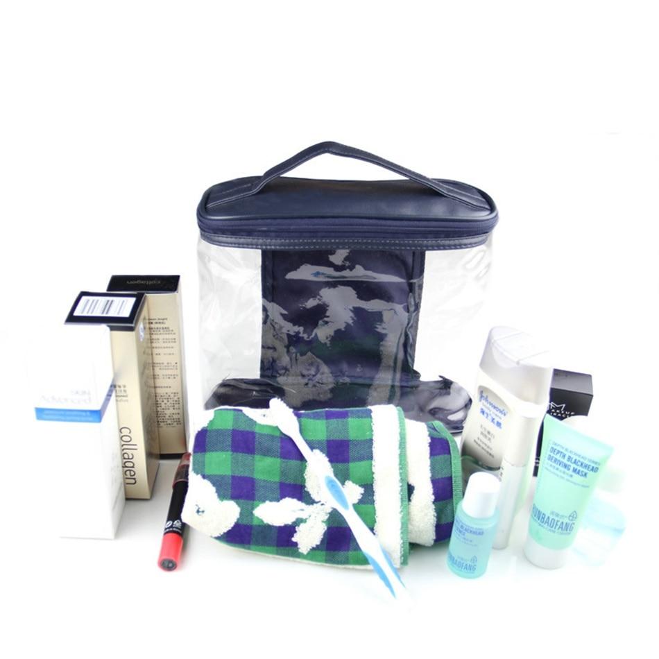 Hanyu Perlengkapan Mandi Tas Travel Rias Ritsleting Hitam Laurige Organizer Jinjing Merah Transparan Kosmetik Pvc Kulit Membuat Makeup Kasus Keperluan Penyimpanan Pouch