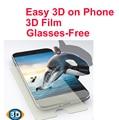 Para iphone 6 película 3d sin gafas película fácil 3d de visualización de películas en el teléfono 3D protector de pantalla de cine ver películas EN 3D sin gafas