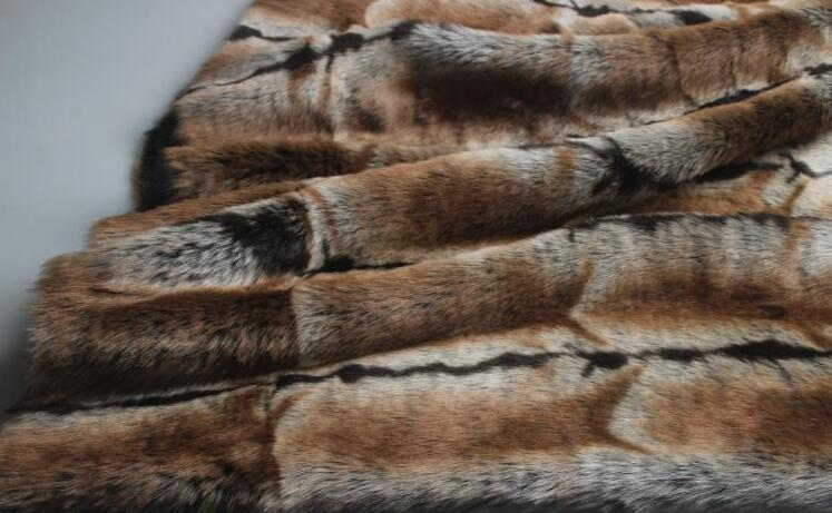 5 Estilo Rex conejo largo pelo animal algodón felpa lana tela para abrigo textil parches hechos a mano Jacquard grueso tejido de lentejuelas a346 - 3