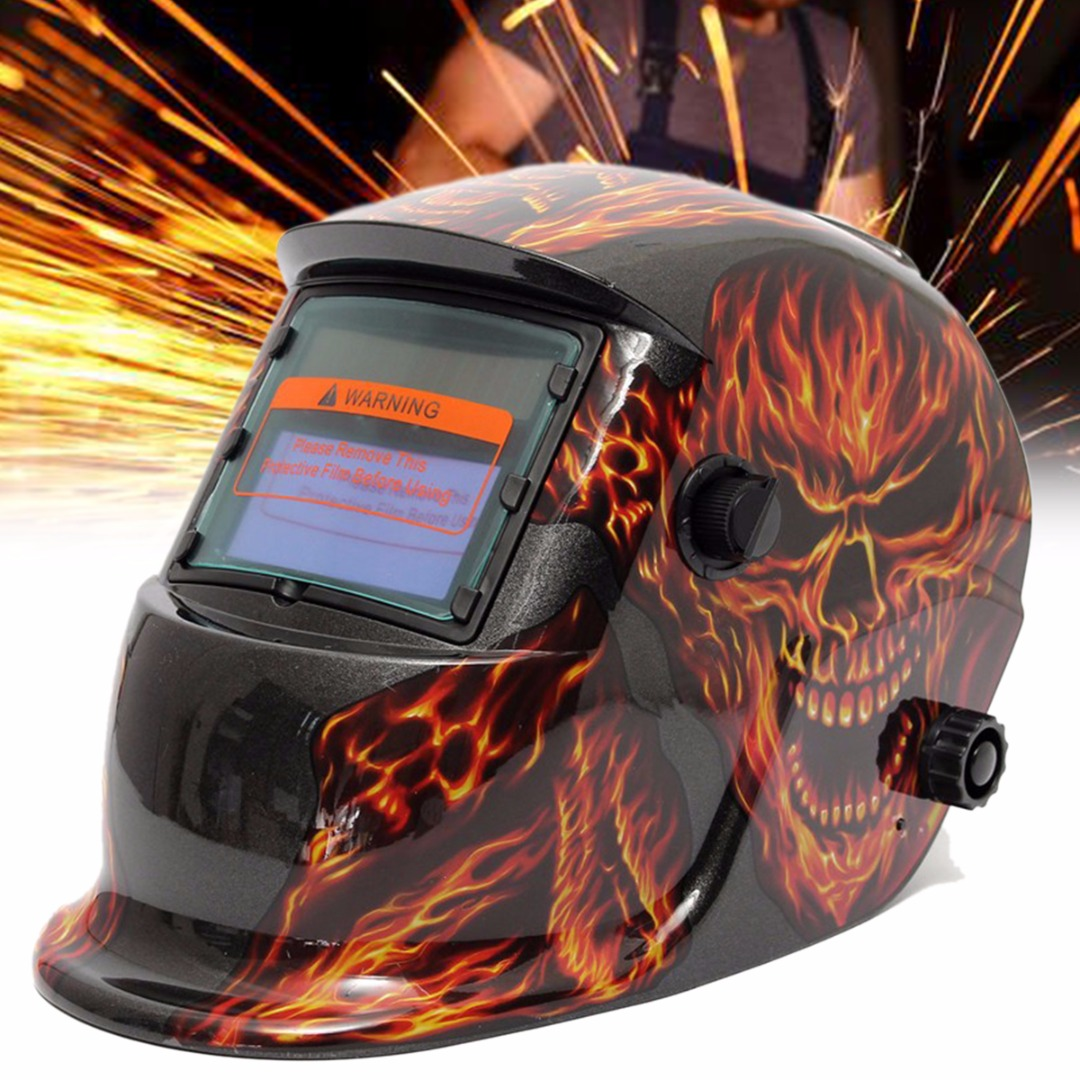 Ossieao Solar Auto Darkening Welding Grinding Helmet Welder ARC TIG Mask Protection new solar power auto darkening welding mask helmet eyes shield goggle welder glasses workplace safety
