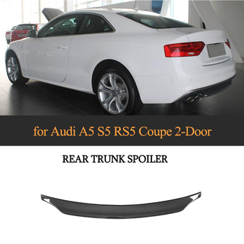 Car Rear Trunk Spoiler Wing for Audi A5 Sline S5 Coupe 2008-2016 Not for RS5 Rear Spoiler Wing Boot Lip FRP Black/ Carbon Fiber