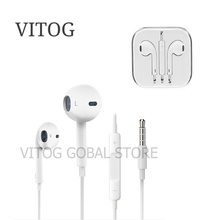 цена на 3.5mm plug earphones microphone In Ear Earphone for phone 4 4s 5 6s xiaomi Huawei Samsung galaxy s5 s6 s8 s9 s10 plus Earphones