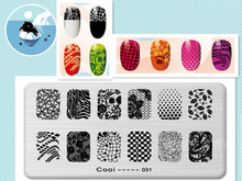 Vines Design DIY Manicure Nail Art Stamp Template Image Plate Rctangular Stamping PLates Set Beauty Polish