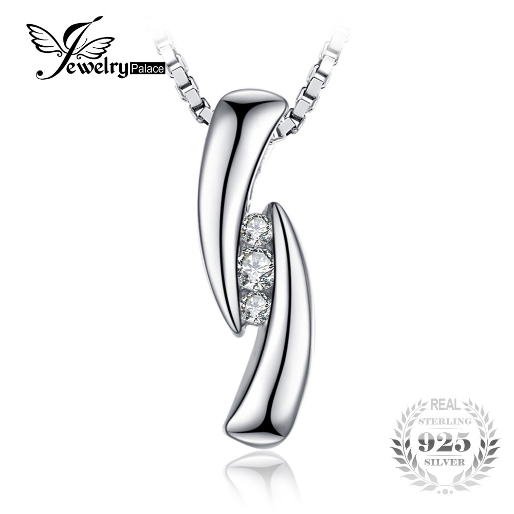 Aliexpresscom Køb Jewelrypalace 003Ct Cubic Zirconia 3 Stones vedhæng Virkelige 925-7233