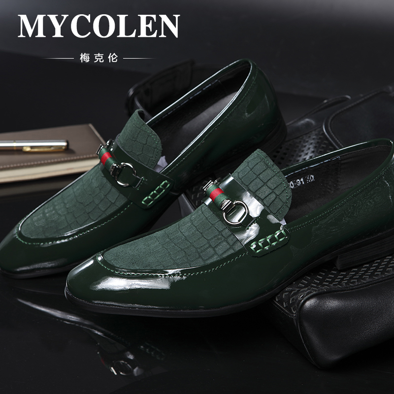 MYCOLEN Genuine Leather Handmade Mens Loafers Men Shoes Classical Casual Moccasins Male Office Shoe Loafers Zapatos Hombre mycolen men loafers leather genuine luxury designer slip on mens shoes black italian brand dress loafers moccasins mens