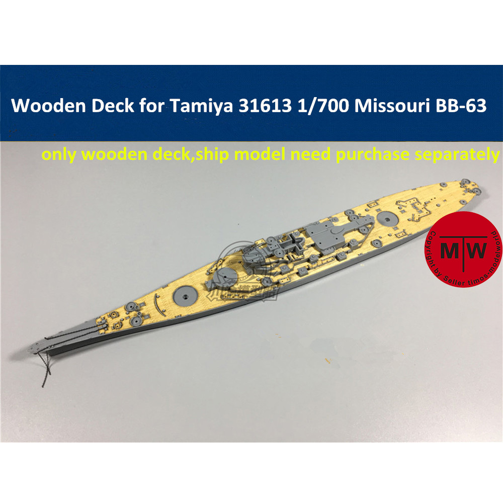 1/700 Scale Wooden Deck For Tamiya 31613 USS Missouri BB-63 Ship Model CY700014
