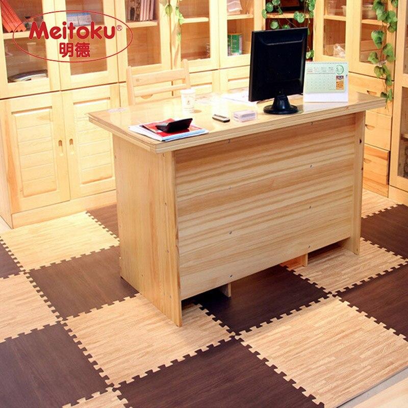 Tapis de jeu pour bébé en mousse EVA souple Meitoku de 24 pieds, 6 carreaux; tapis rampant interlock; Each62X62X1cm