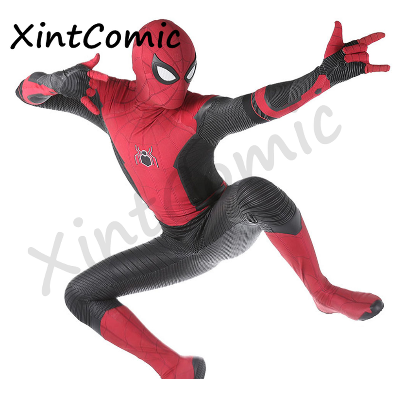 Wholesale Spiderman Costume Spiderman Home Cosplay Costume Tom Holland Suit High-quality Zentai Jumpsuits disfraz