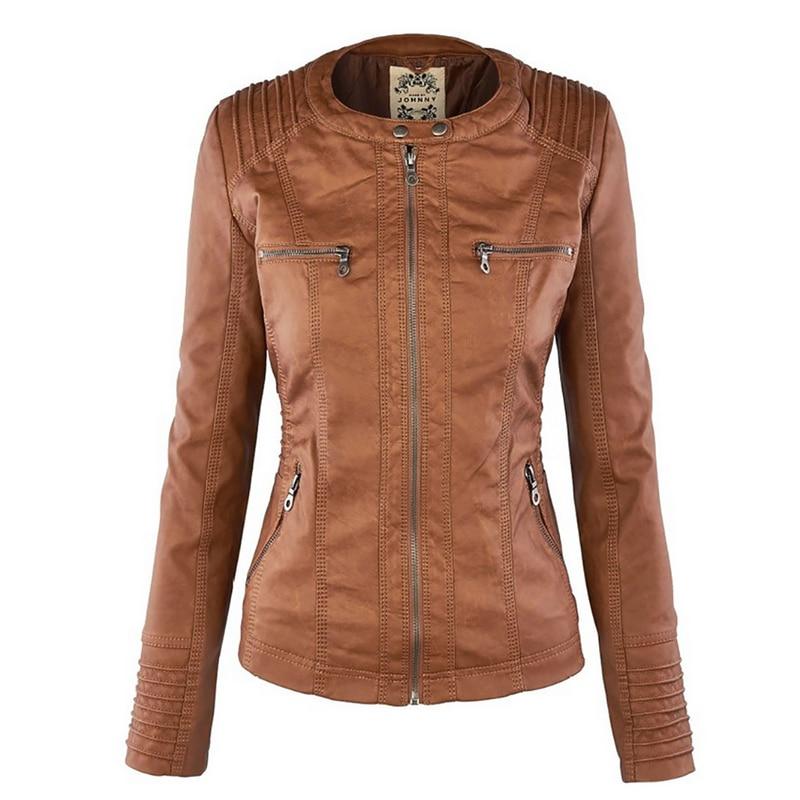 Winter Faux Leather Jacket Waterproof Windproof Coats 9