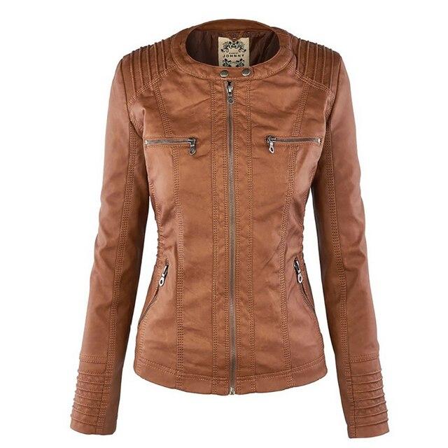 Winter Faux Leather Jacket Waterproof Windproof Coats 2