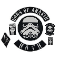 Sons of Anakin Stormtrooper Star Wars Iron on Embroidery patch Sewing on Motorcycle Jacket patches for clothes DIY Design
