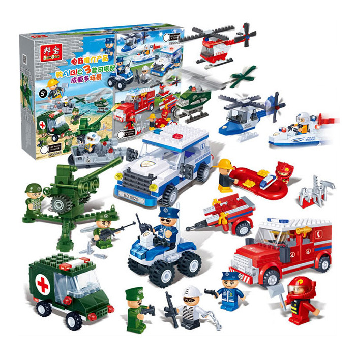 KAZI Police Station Building Blocks Bricks Educational Toys Compatible with all brand city Birthday Gift Toy Brinquedos kazi 453pcs building blocks city special police series toys for children compatible all brand educationa bricks boys gifts