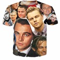 The many faces of the beautiful Leonardo DiCaprio T-Shirt Women Men Harajuku 3D t shirt Outfits Pullover Fahsion Cotton tee